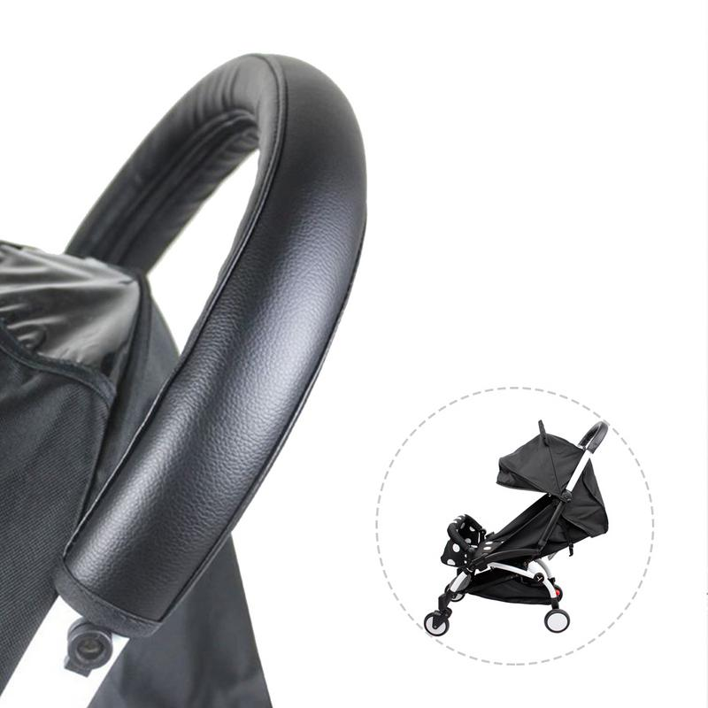 1 Pcs Baby Stroller Accessories Handle Leather Case Handrail Case Cover Stroller Armrest Protective Case Cover Removable Zipper