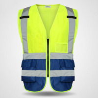 Reflective Safety Warning Vest Working Clothes Reflectante Chaleco Day Night Protective Vest For Cycling Road Traffic YFY020