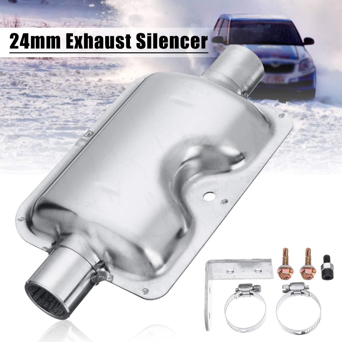 24mm/0,9 zoll Auto Tragbare Abgasschalldämpfer Schalldämpfer Schellen Halterung für Webasto Ebespacher für Diesel Heizung