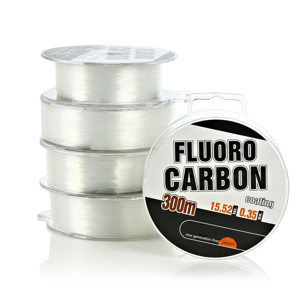 Fishing-Line Not-Fluorocarbon-Line Monofilament Carbon-Coating-Japan Nylon Fluro 300m