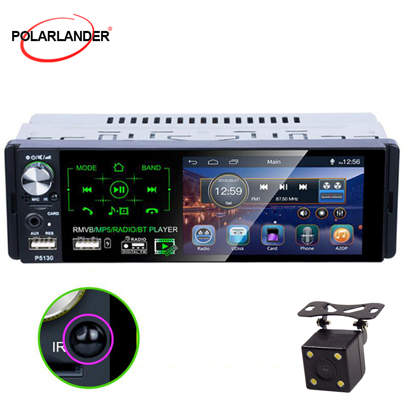 1 Din Car radio 7 HD Audio Stereo Multimedia Player Bluetooth MP5 Player Autoradio Touch Screen AM FM Radio RDS U-disk AUX Play image