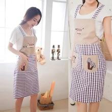 Корейский стиль сетка без рукавов двойной плечевой ремень Тип домашний фартук милые модные анти-маслостойкий фартук