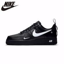 Nike Air Force 1 Новое поступление дышащие Универсальные мужские туфли для скейтбординга удобные демпфирующие кроссовки # AJ7747