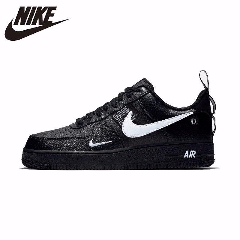 Nike Air Force 1 Nuovo Arrivo Traspirante Utility Uomini Scarpe da pattini e skate Confortevole di Smorzamento Scarpe Da Tennis # AJ7747