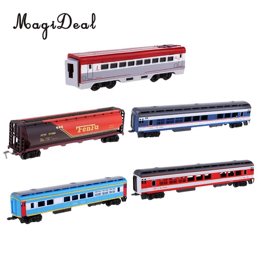 Scale Simulation Train Model Carriage Children Toy Electric Track Train Freight Car Railroad Car Diorama Wargame Accessory