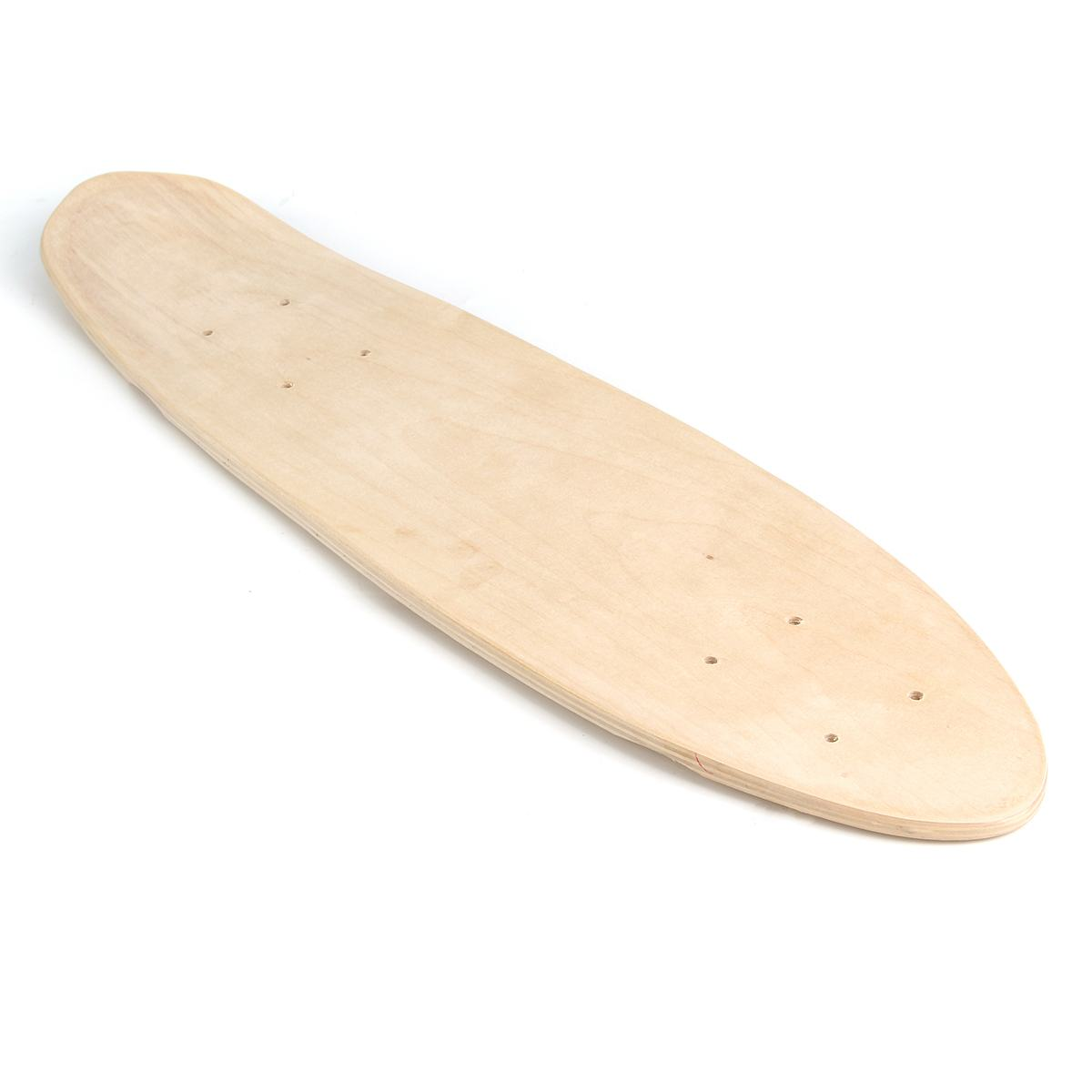 24 Inch Fish Skateboard Natural Single Foot Wooden Maple Blank Deck Board Parts Happy Baby DIY Skateboard Accessories