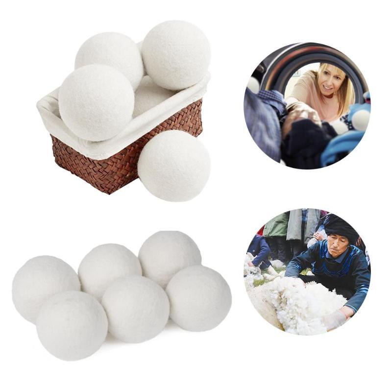 10Pcs/pack Premium Organic Wool Dryer Balls Laundry Clean Ball Reusable Natural Organic Laundry Fabric Softener Ball Dropship 2