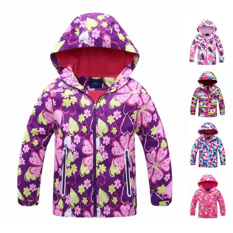 מעיל רוח בנות מעיל עבור ילד ברדס 2020 אביב פרח פליס בנות הלבשה עליונה מעיל 3-12T ילדים מעילים