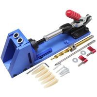 BHTS Woodworking Guide Carpenter Kit System inclined hole drill tools clamp base Drill Bit Kit System Pocket Hole Jig Kit