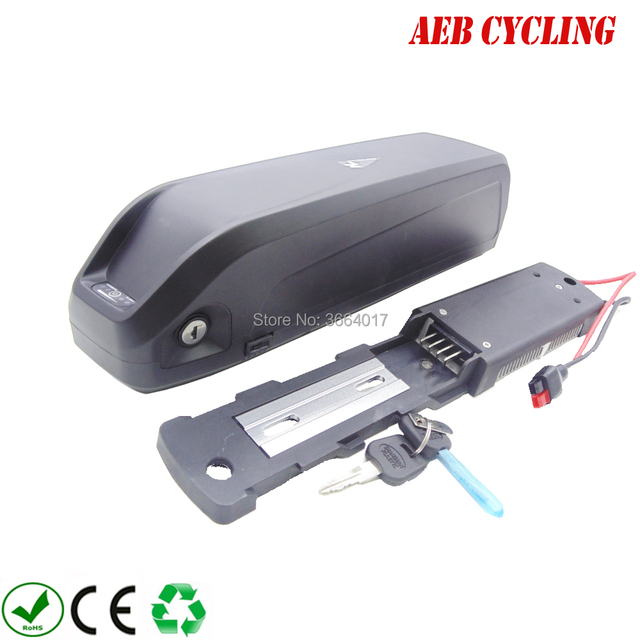 Free shipping Hailong-plus down tube ebike battery case 65 Pcs 18650 cells ebike USB shark battery case for fat tire bike