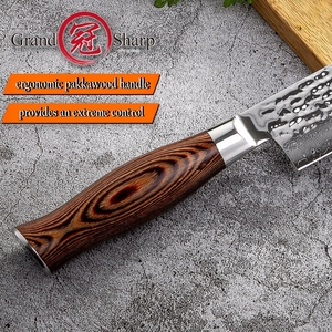 Image 5 - Damascus Chef Knife vg10 Japanese Kitchen Knives 67 layers Damascus Guyto Knife Chefs Cooking Tool Stainless Steel Professional