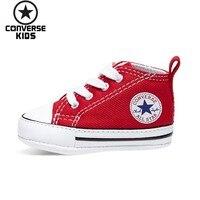 CONVERSE детская обувь серии Classic ребенка Удобная парусиновая обувь для новорожденных # 88875 V
