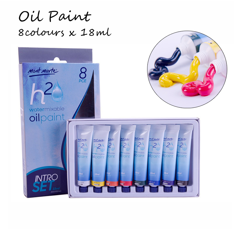 8 Colors 18ML Tube Oil Paints Set Professional Water Oil Colors Paint For Children Drawing Acrylic Painting Color Art Supplies