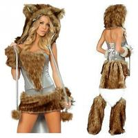 Women adult Sexy Alluring Cat Women Costume Role Playing Erotic clothing set