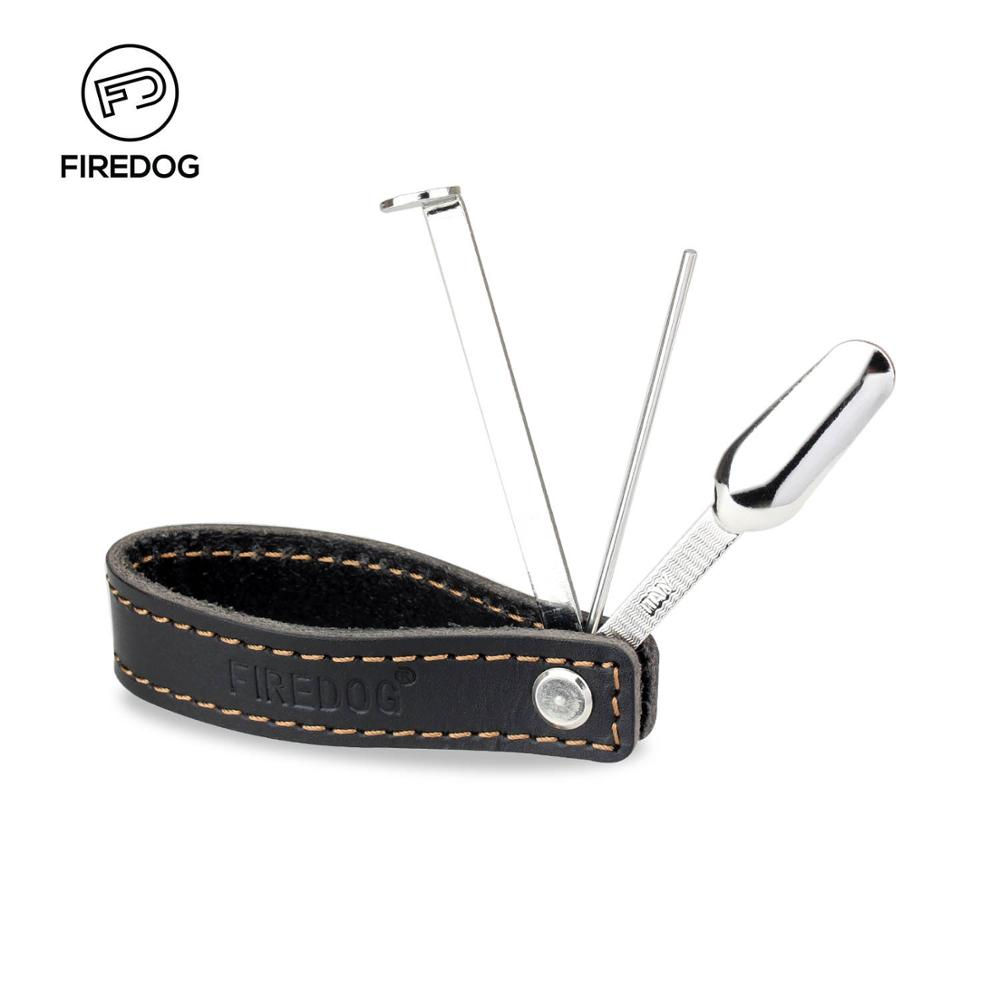 FIREDOG Smoking Pipe Leather Tobacco Pipes Accessories Holder Bracket Rack Stand With Stainless Steel Pipe Cleaner Tamper Tool