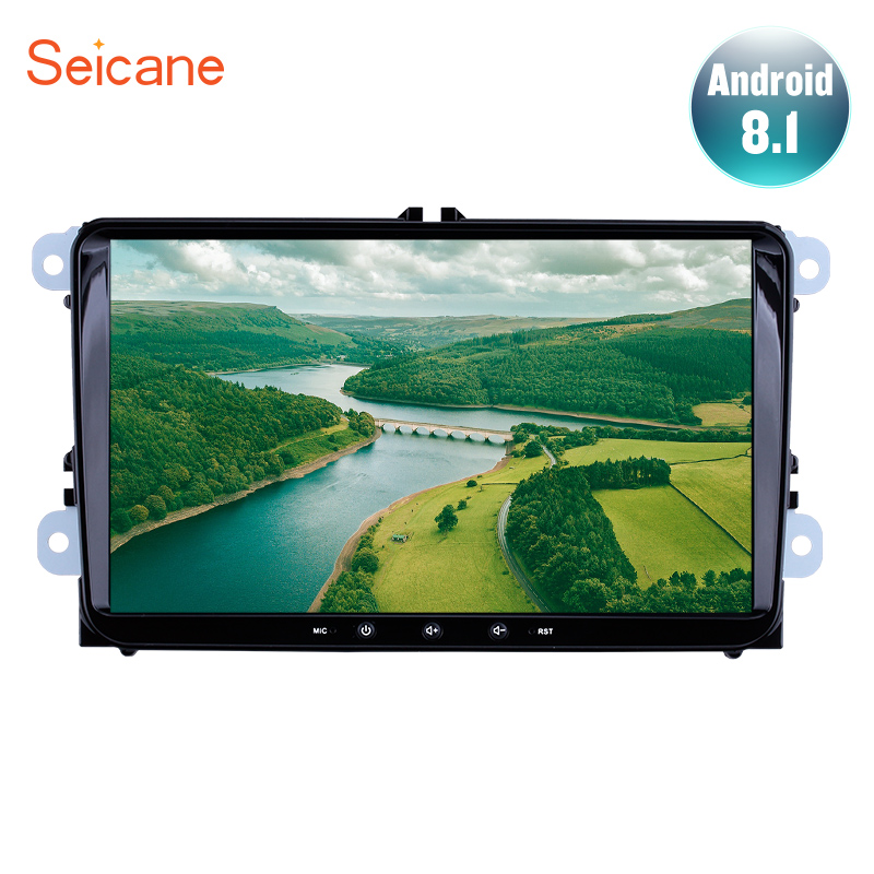 Seicane 2Din Autoradio Android 8 1 For VW Volkswagen Golf Polo Tiguan Passat b7 b6 leon