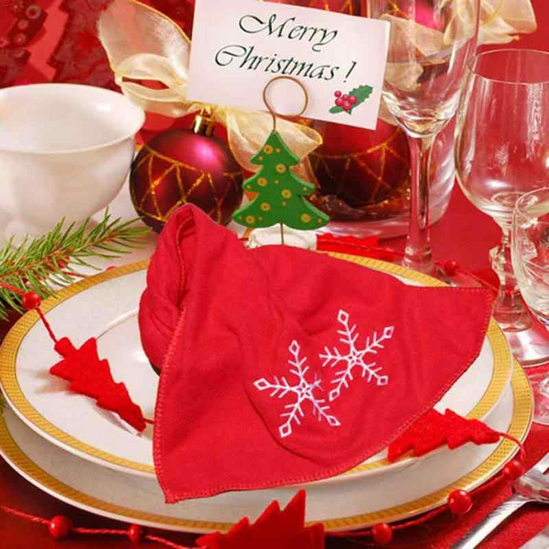 741dd20895627 ... New Decorative Luxury Hand Towel Christmas Towel Gift Embroidered Santa  Claus Snowflake Towel Kitchen Dish Towels ...