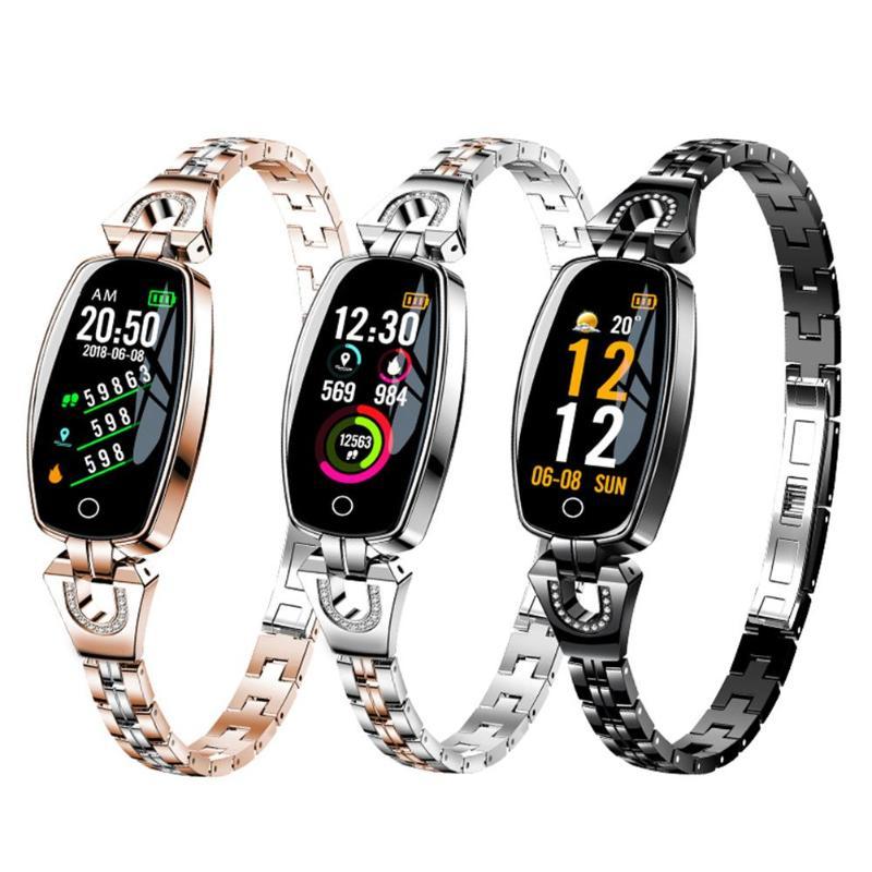 SIMA H8 élégant et généreux femmes montre intelligente fréquence cardiaque tensiomètre Sport Bracelet Android IOS montre intelligente