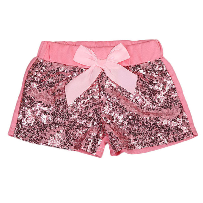 2019 Brand New Toddler Infant Kids Baby Girls Bow knot Party Sparkle Sequin   Shorts   Kids Bottoms Summer 1-3T