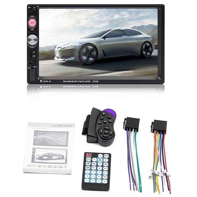 Top 7023B 2 Din Car Multimedia Audio Speler Stereo Radio 7 Inch Touch Screen Hd MP5 MP4 Speler Ondersteuning Bluetooth camera Fm
