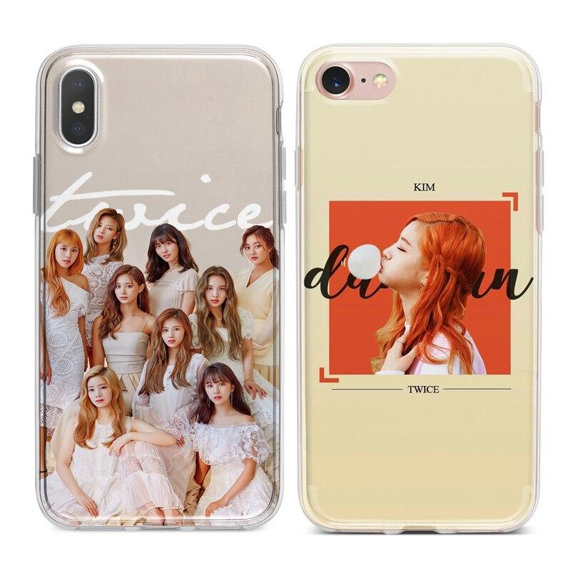 Kim Dahyun DEUX FOIS Kpop Coque En Silicone Souple Téléphone étuis pour iphone XS Max XR X 7 8 6 6 S Plus 5 S 5 SE 5C 4 S 4 iPod Touch 6 5.