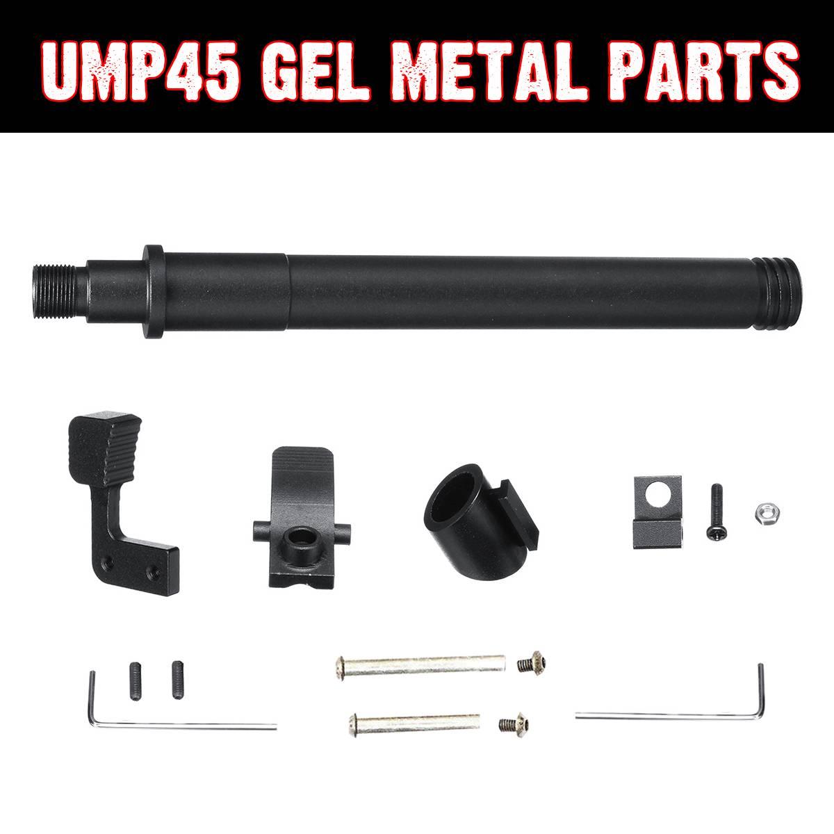 Ensembles de pièces de mise à niveau en métal pour UMP45 Gel Ball blaster jeux d'eau jouets pistolets accessoires de remplacement