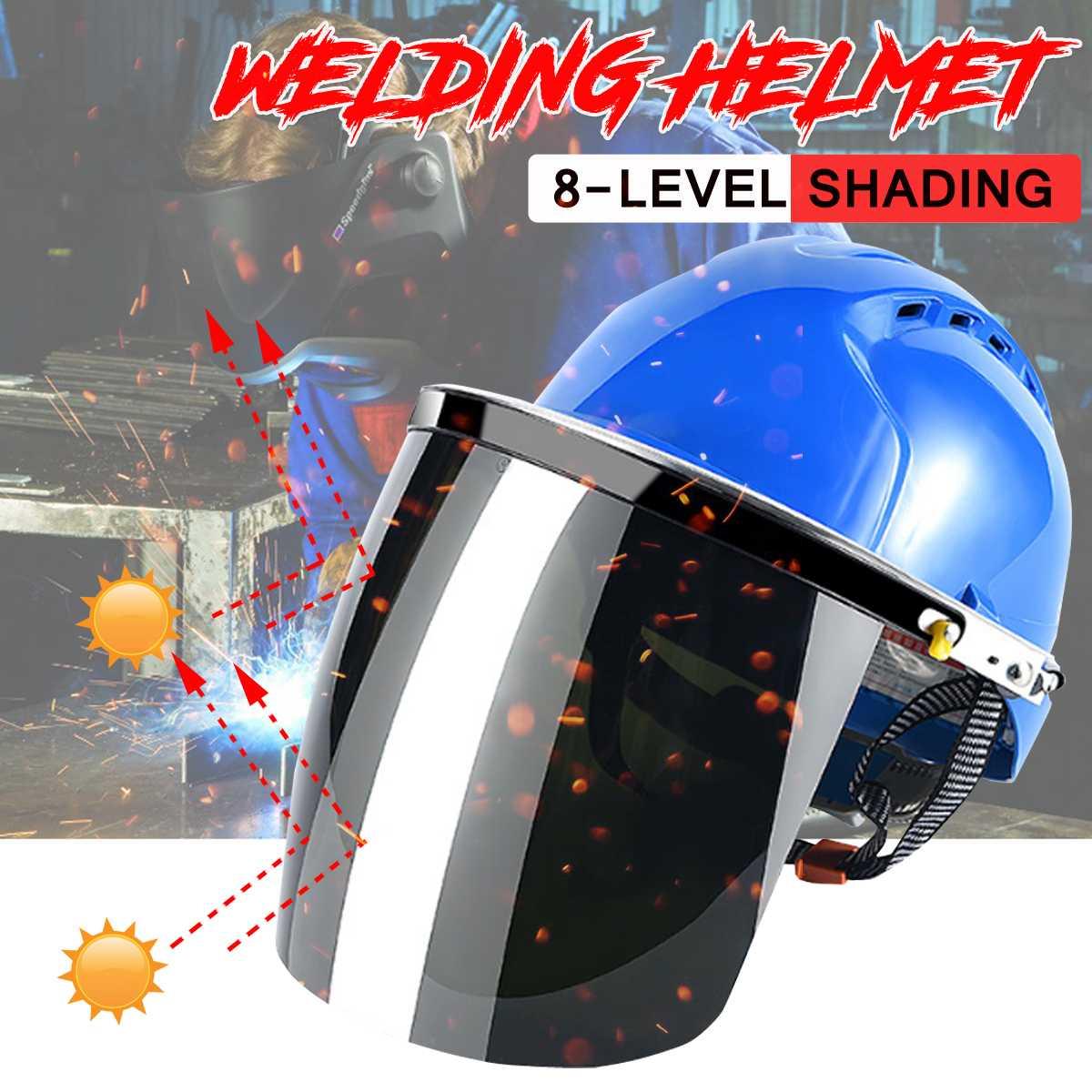 Anti-uv Zurück Len Schweißen Maske Helm Gesicht Schutz Sicherheit Löten Schutz Maske Für Schweißer Arbeits Schleifen Scratch-beständig