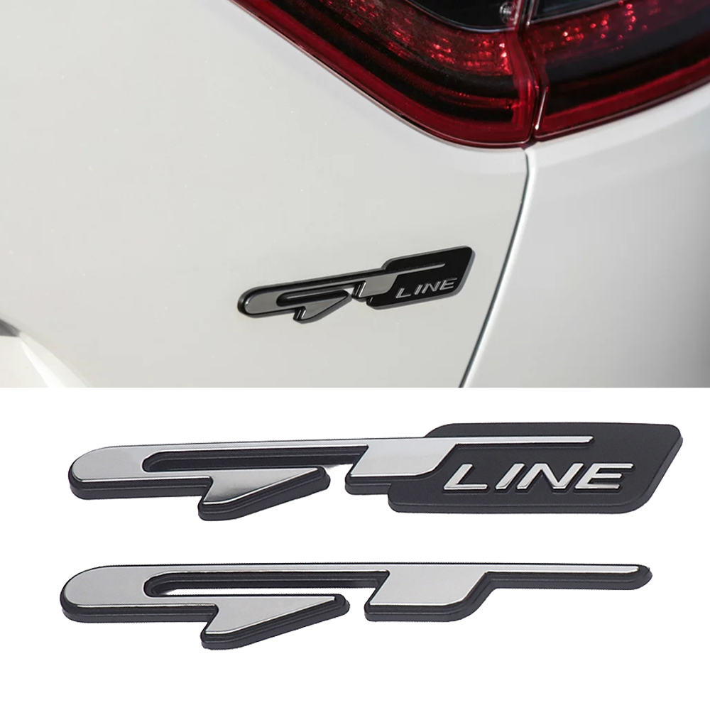 Stereo 3D Emblem Logo GT LINE Car Sticker Car Tuning For Kia K9 Forte Ceed Cerato RIO K3 K5 Optima Sorento Seltos Accessories