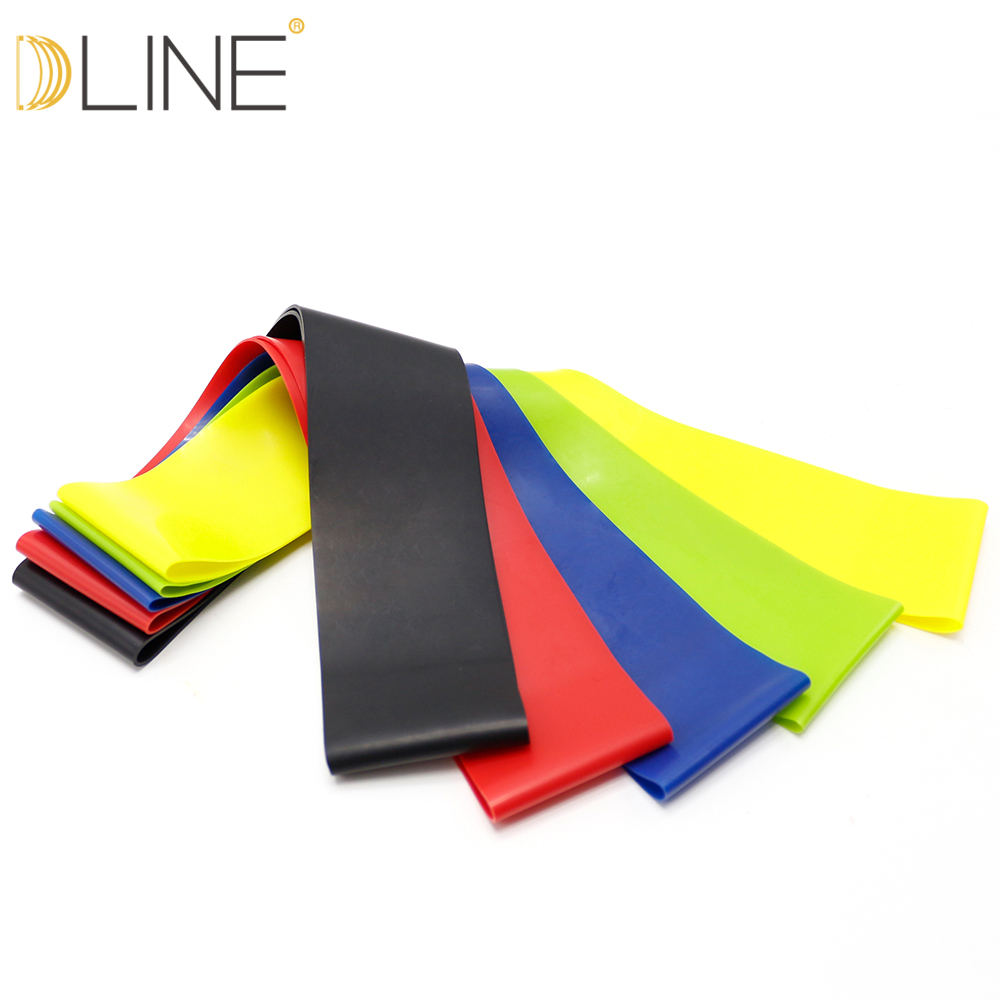dline Resistance Bands Fitness Equipment Rubber Loop Pilates Sport Training Workout Elastic Band CrossFit Gym Equipment