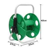 Suporte de parede portátil de mangueiras de jardim  10-40 m 1 / 2 tubulação de água da máquina de lavar  rack de suporte automático para ferramentas