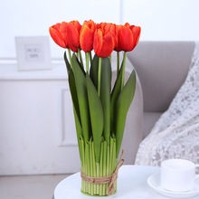 Bedroom Table Shelf Placed Flowers Simulation Artificial Decoration Bouquet Height Pot 12 Head Tulip
