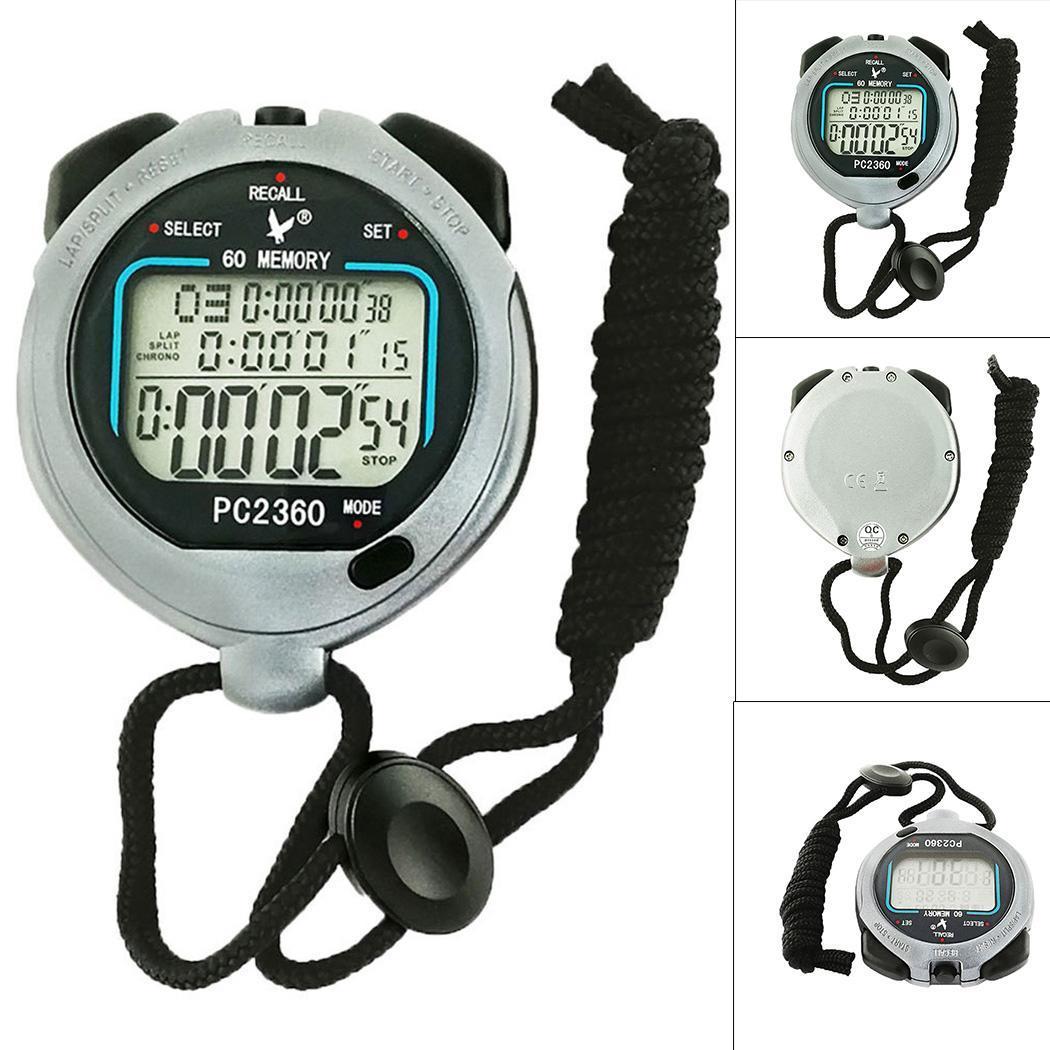Compétition entraînement Fitness trois rangées 60 noir chronomètre électronique oui Sports, compétition, 1 x CR2032