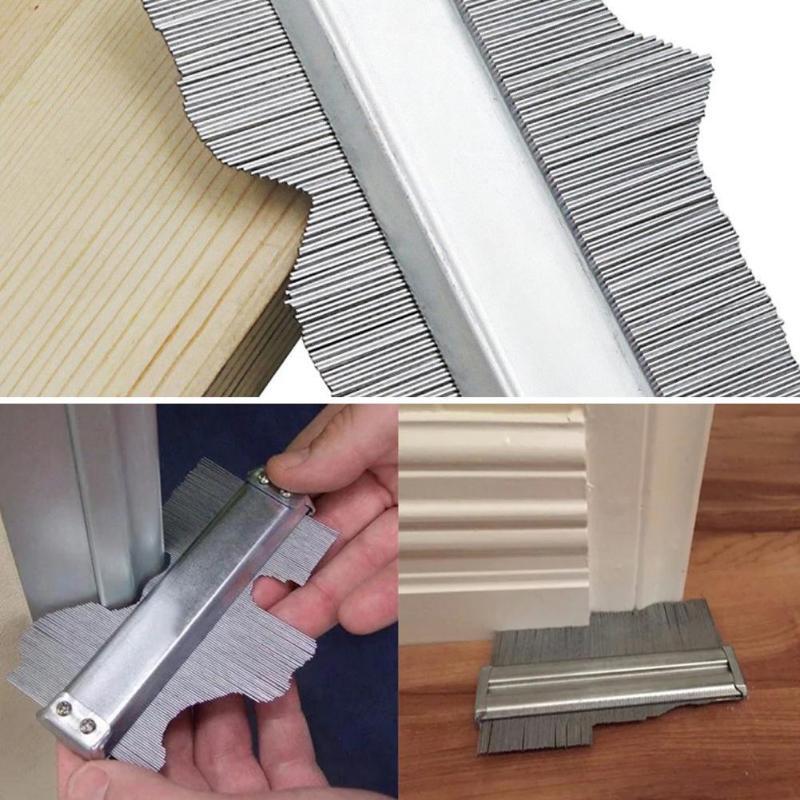 Stainless Steel Metal Profile Contour Gauge Template Tiling Skirting Laminate Profile Wood Ruler General Measuring Tools