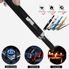 Cigarette Lighter Plasma USB Lighter Long Electric Rechargeable USB Kitchen Accessories Windproof Plasma Pulsed Cigarette Tools цены