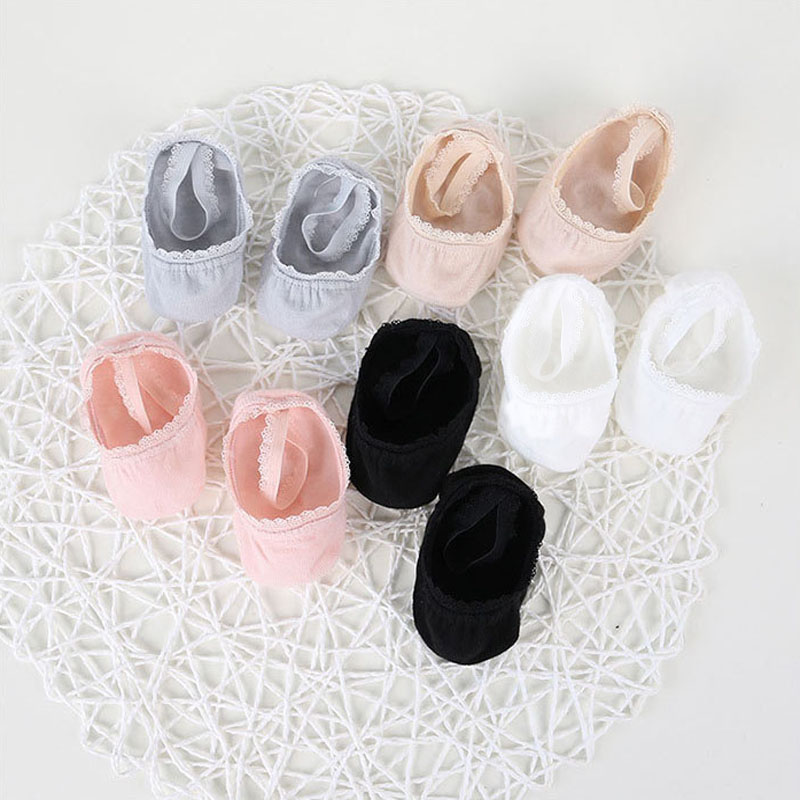 1-8 Years Cute Floral Lace Baby Socks Toddlers Infants Anti-slip Cotton Ankle Socks Baby Girls Princess Socks 5 Colors