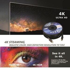 Image 4 - HDMI & Micro HDMI câble Fiber optique amovible HDMI 2.0 4K 60Hz 10m 20m 30m 50m 100m pour HDR TV LCD projecteur ordinateur portable PS4