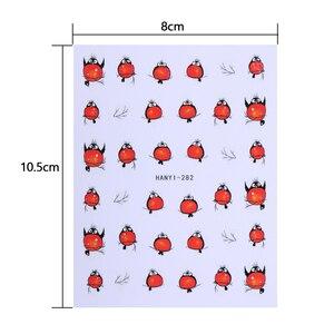 Image 5 - 3d arte do prego adesivos decalques decorações do prego adesivo de transferência bonito coelho vermelho voar pássaros acessórios da arte do prego