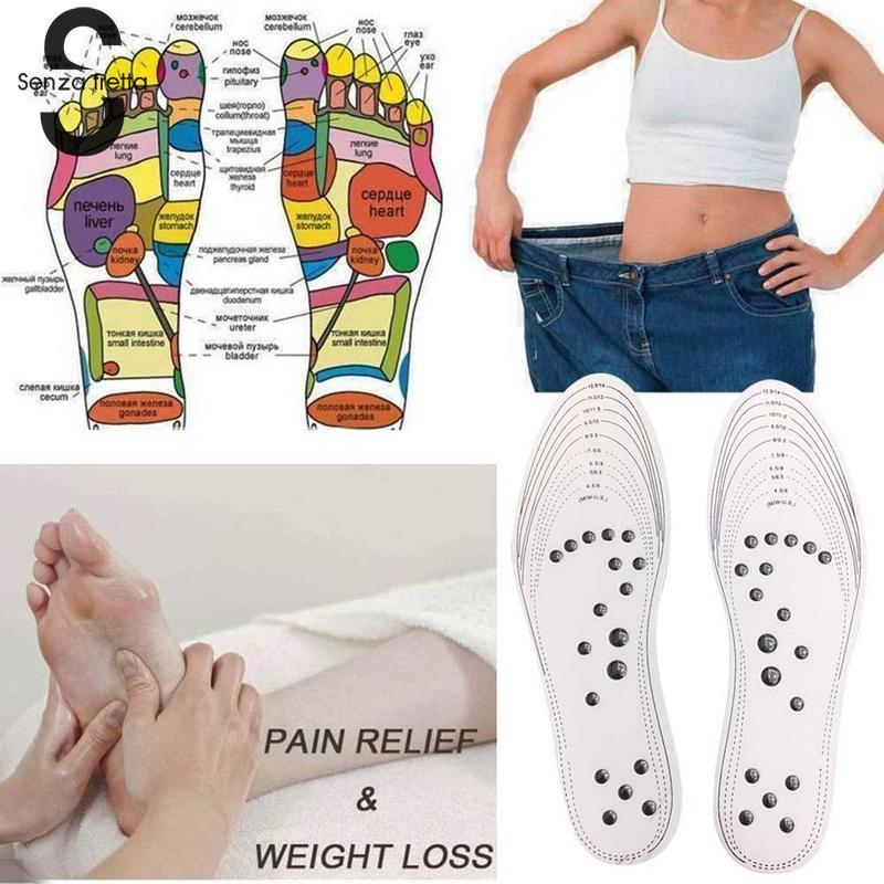 1 Paar Schuh Einlegesohle Akupressur Abnehmen Fuß Massage Einlegesohlen Magnetische Therapie Gewicht Verlust Für Füße Massage Einlegesohlen Dropshipping