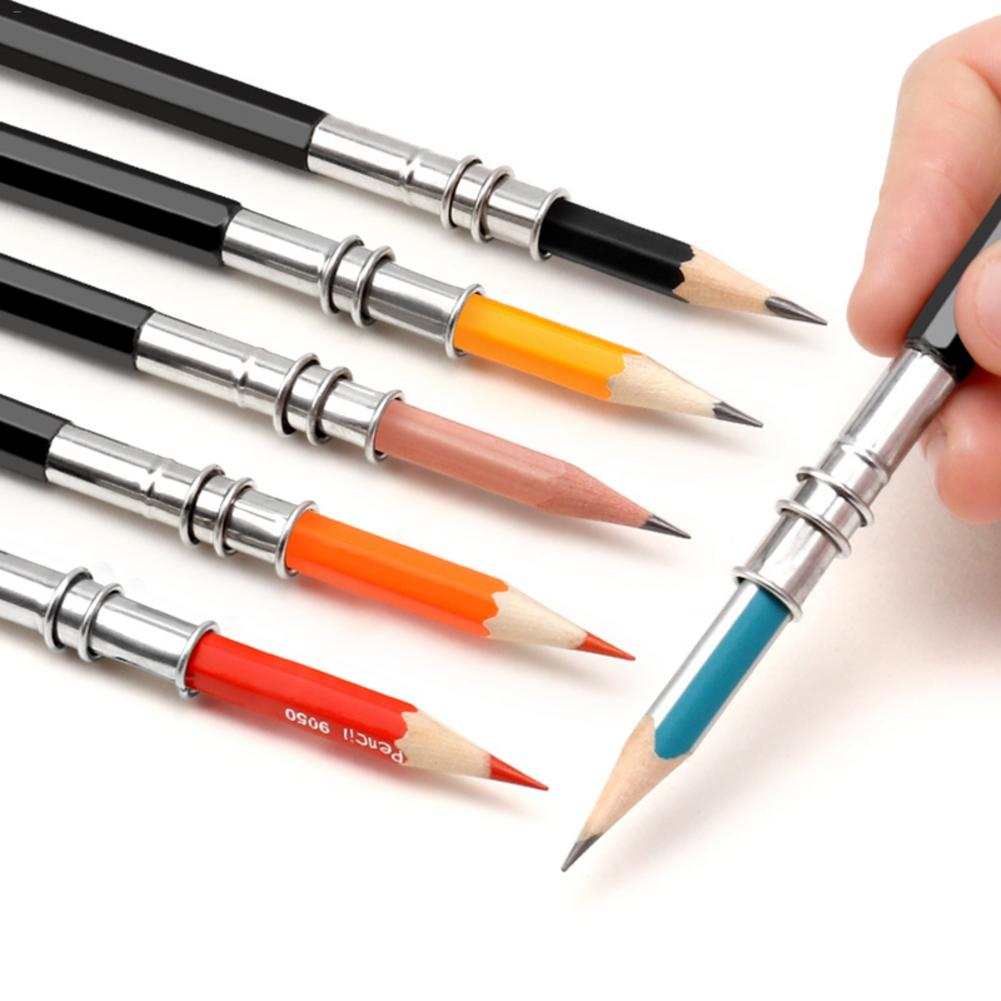 Adjustable Dual Head Pencil Extender Holder Sketch School Office Supplies Art Write Tool Writing Supplies #N