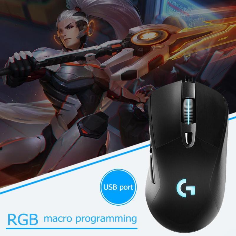 Rétroéclairage de souris de jeu rvb filaire Logitech G403 12000 DPI pour PC Gamer PUBG - 5
