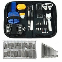 Shellhard Watch Repair Kit Set + 360 Pcs Steel Spring Bars 8 25mm Watchmaker Tool Set Repair Pry Screwdriver Clock Watches Tool