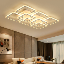 New Modern LED Chandelier for bedroom Livingroom acrylic lampshade Ceiling lighting luminaria de teto fixtures