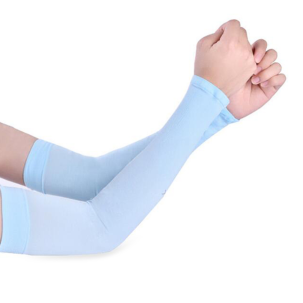 1Pair Men Women's Arm Cooling Sleeves Warmers Summer Sun UV Protection Sleeve Holder Cuffs Solid Color Outdoor Driving Arm Cover