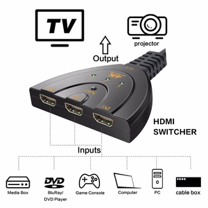 Image 2 - 3 Port HDMI Splitter Adapter Cable 1.4b 4K 2K 1080P Switcher HDMI Switch 3 in 1 out Port Hub for HDTV Xbox PS3 PS4