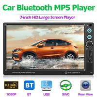 Quanzhi C500 T8013 7 Inch Car Stereo MP5 Player Bluetooth FM Radio USB AUX with Camera for Android Multimedia Music Video Player