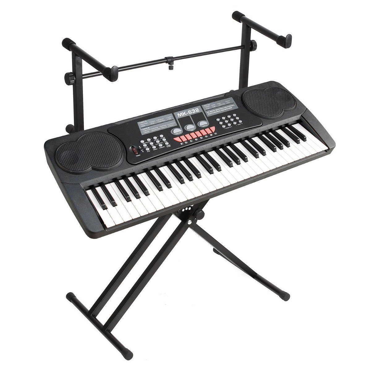 2-Tiers X Style Dual Keyboard Stand Adjustable Electronic Music Piano Holder Musical Keyboard Instrument Accessories Parts2-Tiers X Style Dual Keyboard Stand Adjustable Electronic Music Piano Holder Musical Keyboard Instrument Accessories Parts