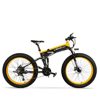 26 Folding Electric Bicycle Electric Bicycle Of Mountain Snow Fat 48 V Lithium Battery 4.0 W 500 Bicycle Tyre High Speed Motor