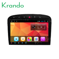 Krando Android 8.1 9Full touch car Multimedia player for Peugeot 408 2010 2013 navigation system radio player gps wifi BT
