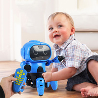 DIY Assembled Electric Robot Induction Educational Toy Remote Control Toys RC Robot For Kids Gift Toy Model Mini Smart Robot Toy