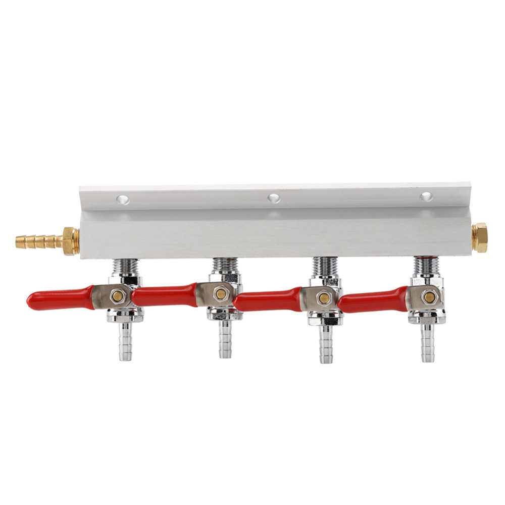 Image 5 - Muti way 2/4 Way Homebrew Co2 Air Gas Manifold Distribution Splitter multiple lines BeerOther Bar Tools   -